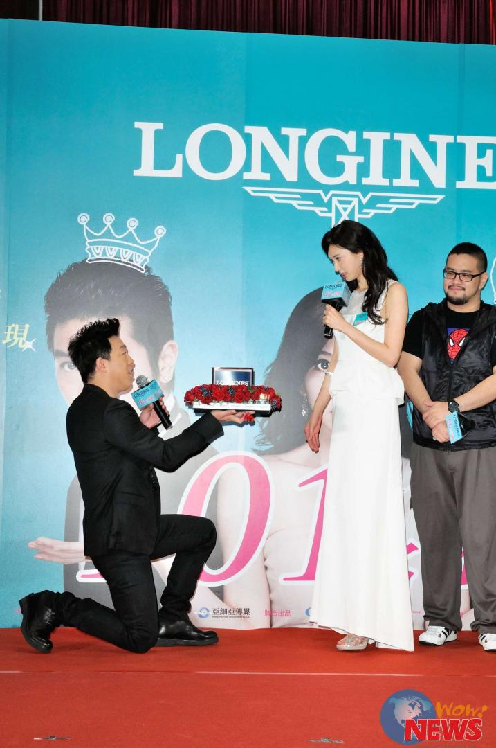 由黄渤(男主角)亲自向优雅代言人林志玲(女主角)求婚