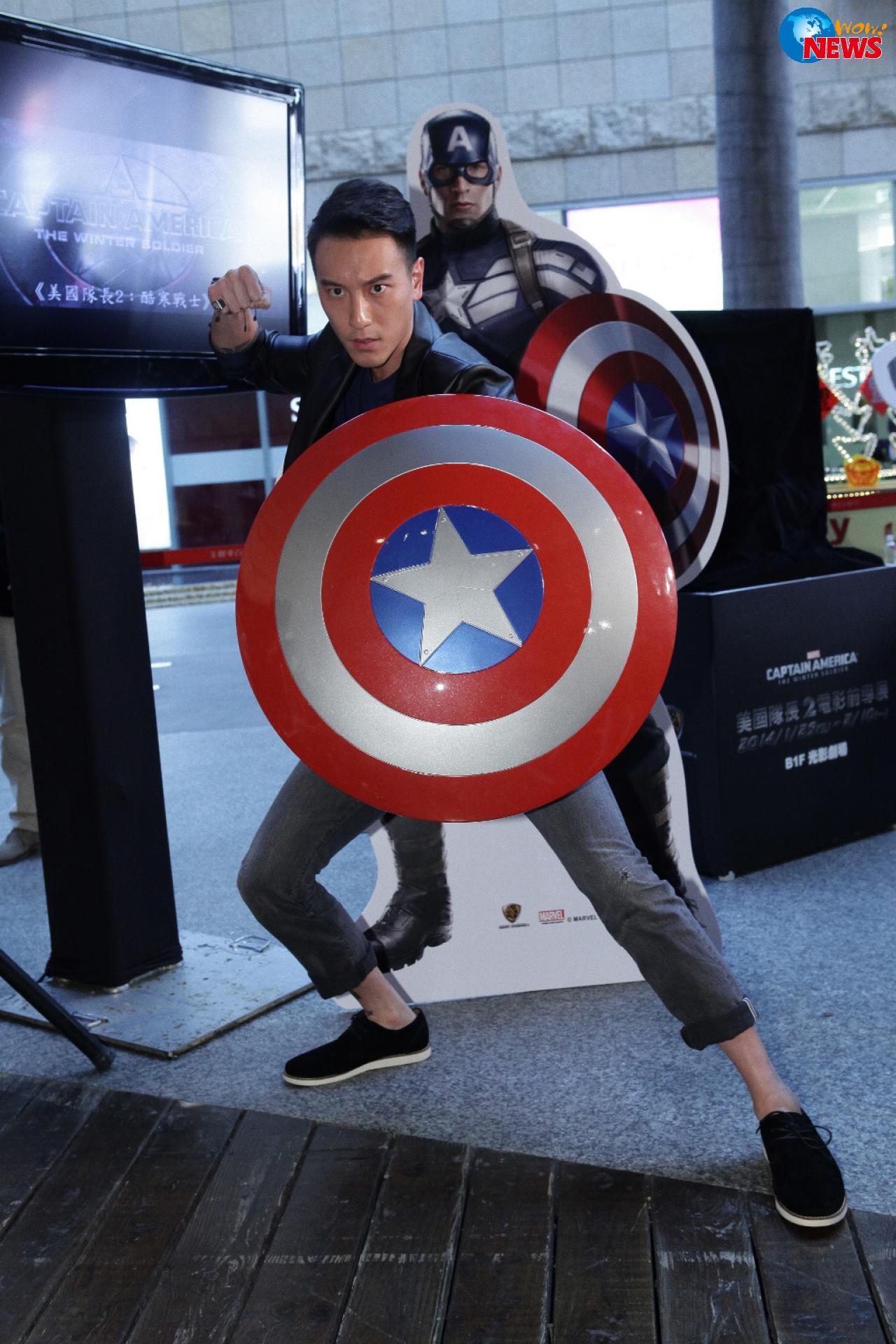 王阳明赛健身打造 美国队长肌肉 线条 盾牌上身