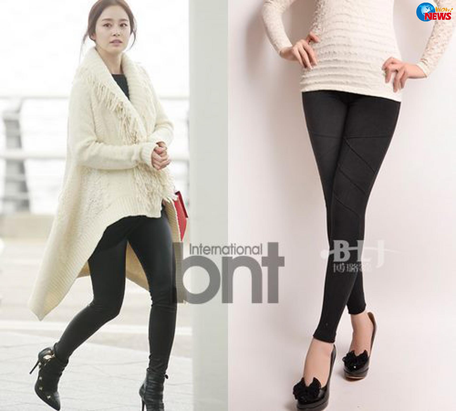 韩女星示范冬季黑色系搭配