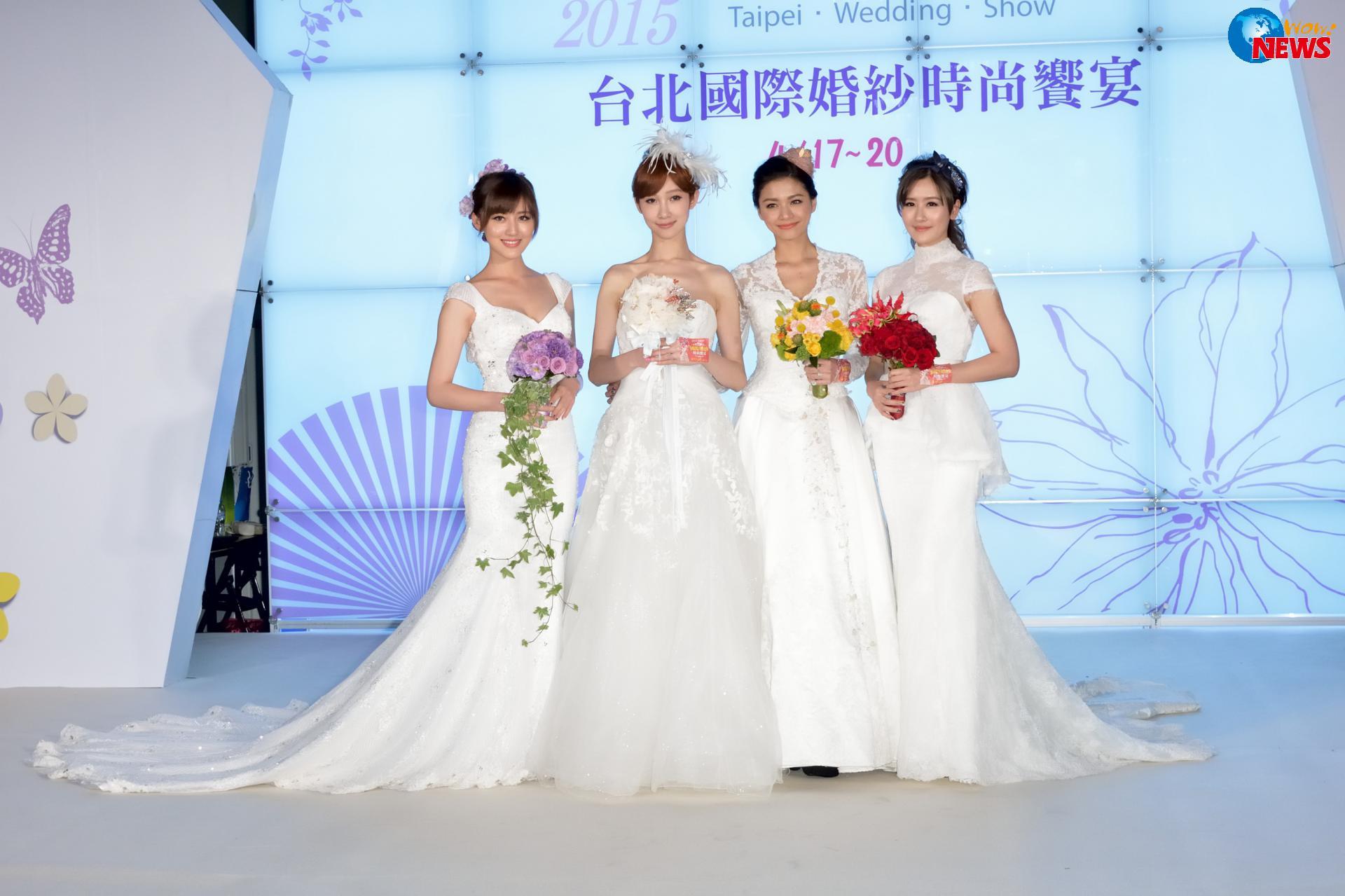 「微女神」披百万嫁纱走秀 梁以辰向往海岛婚礼想拍裸体婚纱照