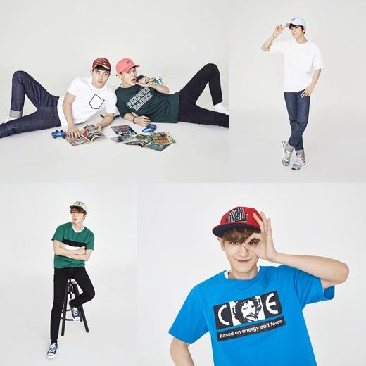 exo代言帽子变运动男孩